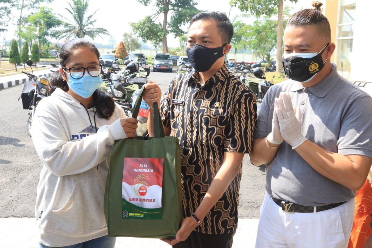 Wabup dan Forkopimda Salurkan Bantuan untuk Masyarakat Terdampak PPKM Level 4