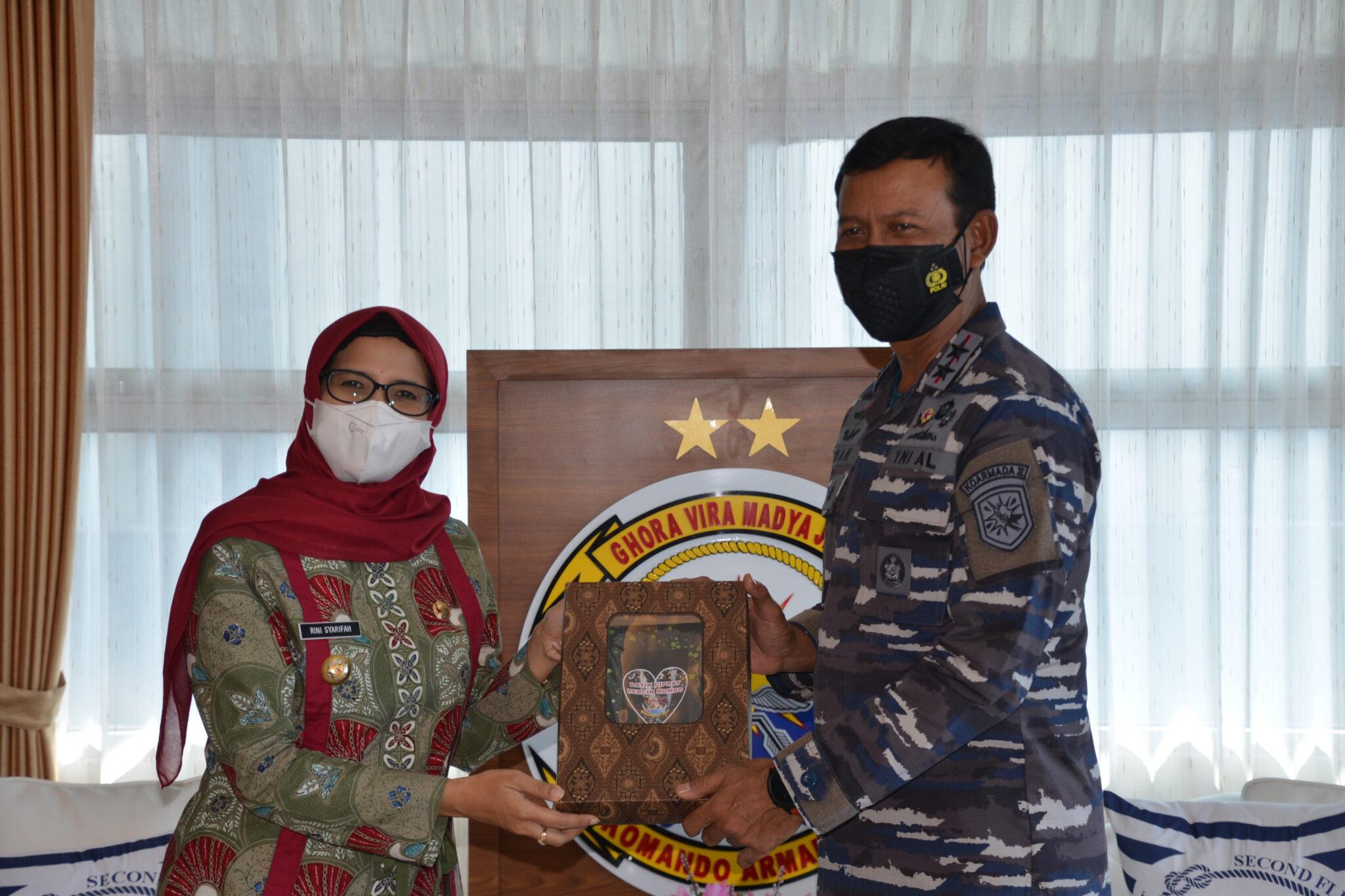 Kunjungan Bupati Blitar di TNI AL Koarmada II Surabaya