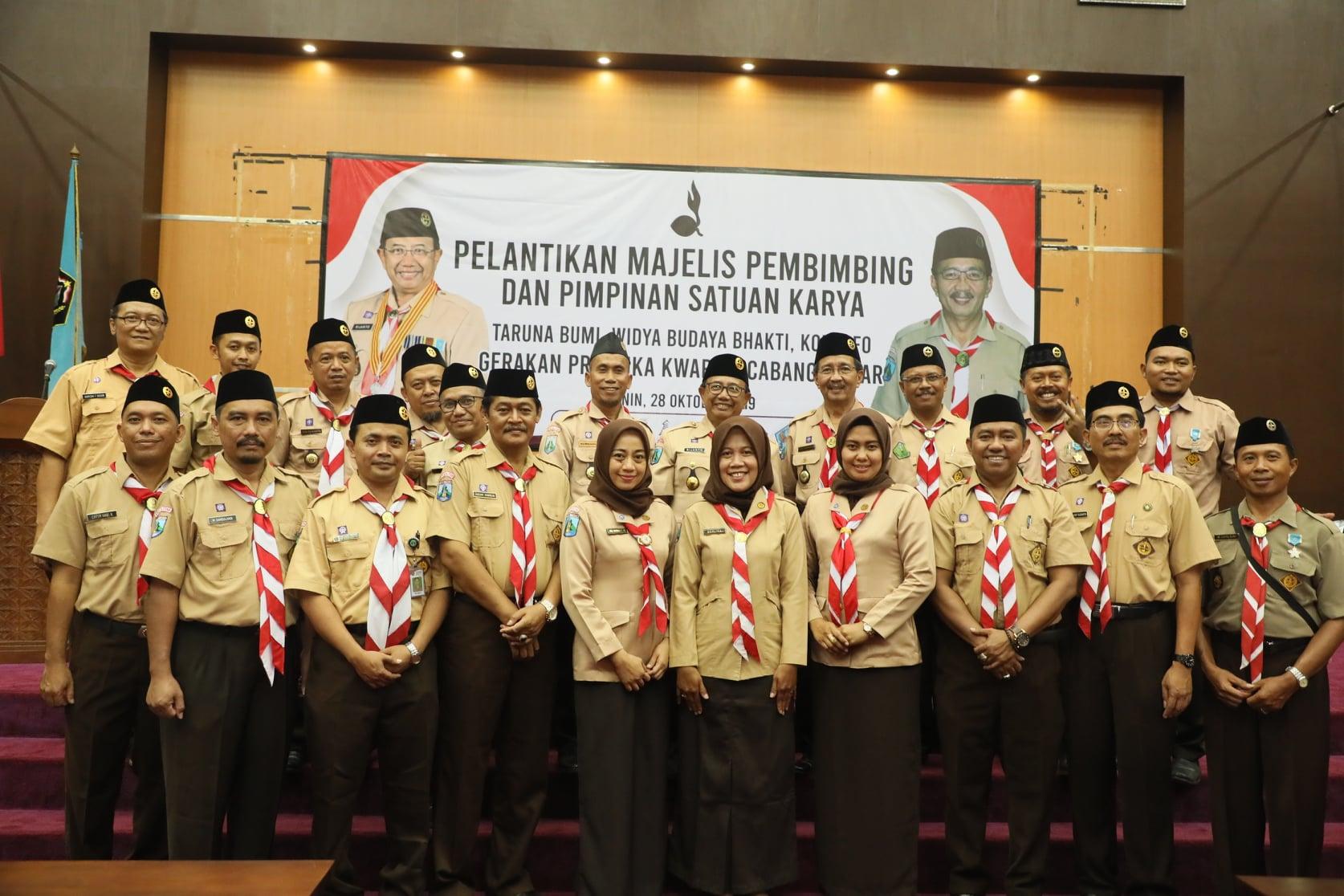 Pelantikan Majelis Pembimbing dan Pimpinan Saka Gerakan Pramuka Kwarcab Blitar