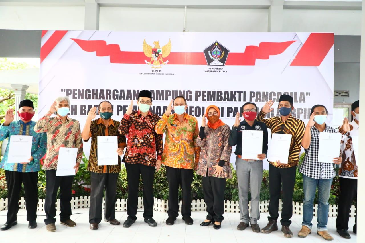 Penghargaan Kampung Pembakti Pancasila dari BPIP