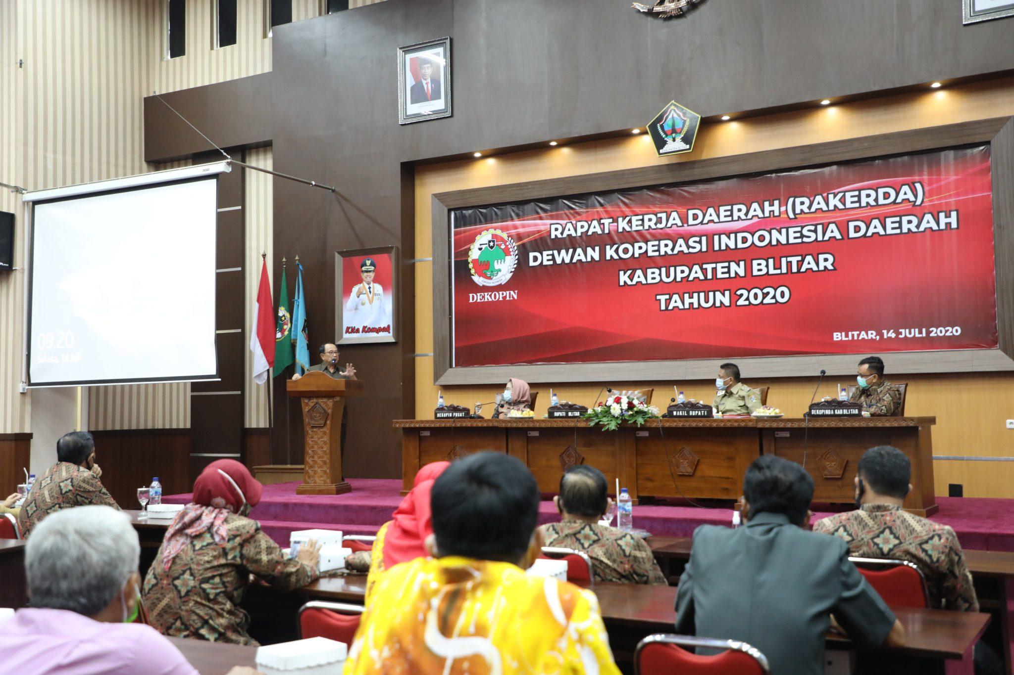 Pemkab Blitar Gelar Rakerda Dekopinda Kabupaten Blitar